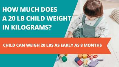 How much does a 20 lb child weight in kilograms?