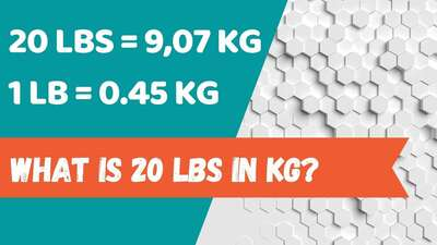 What is 20 lbs in kg?