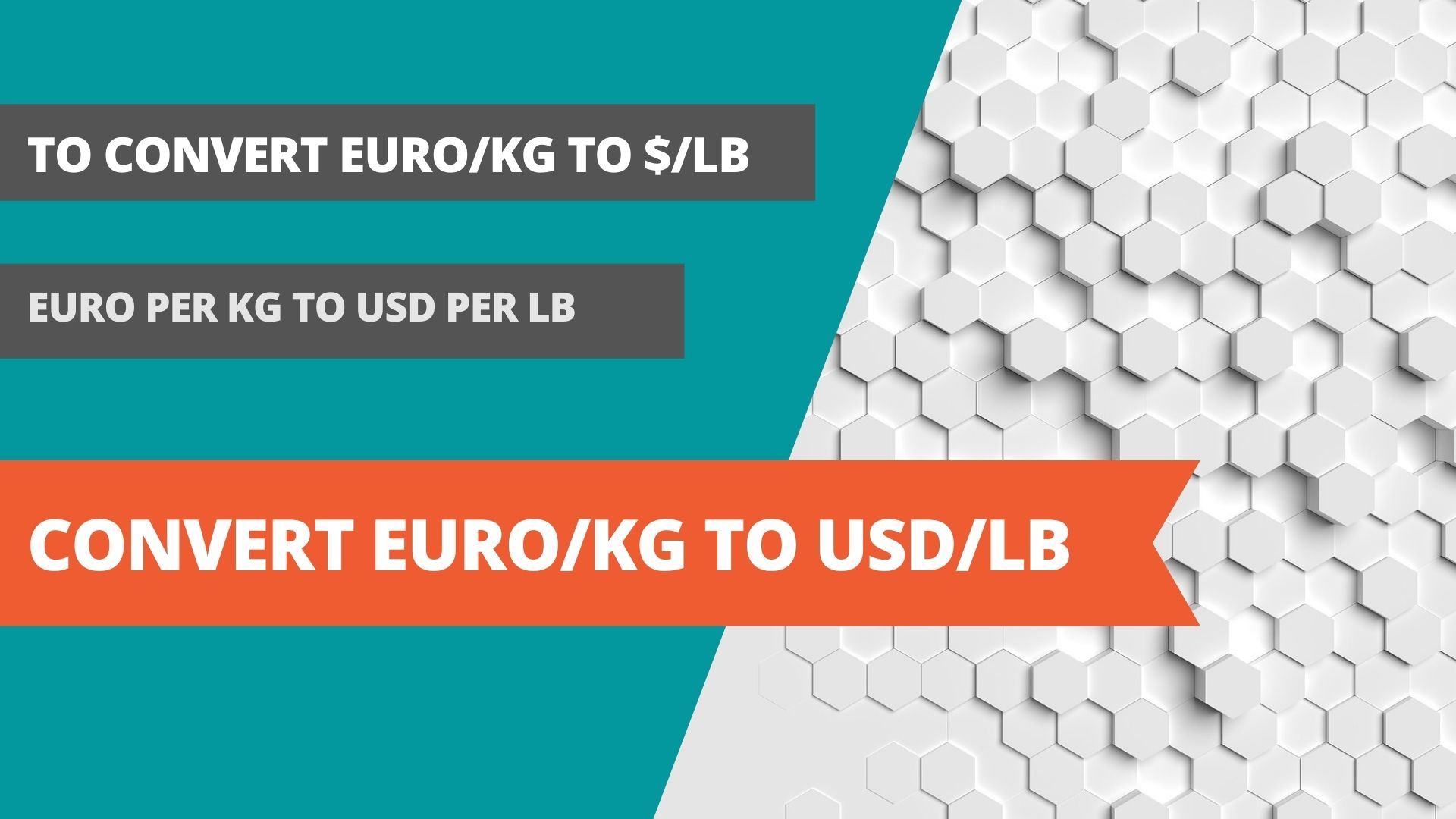 Convert euro/kg to usd/lb