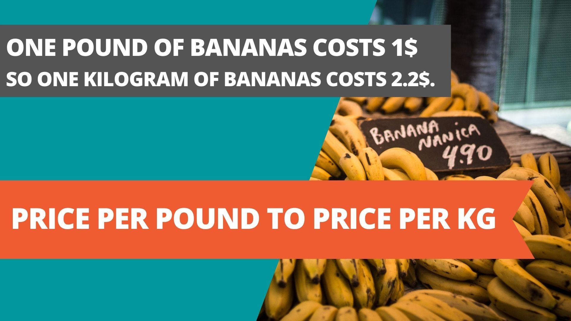 price per pound to price per kg